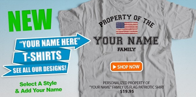 "New ""YOUR NAME"" Shirts!"
