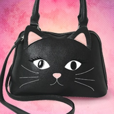 Black Cat Handbag