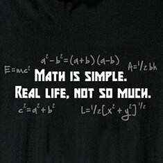 Math Is Simple Shirts