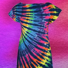 Rainbow Tie-Dye Tunic Dress