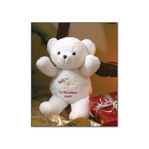 Personalized First Christmas Bear What On Earth Cd6822