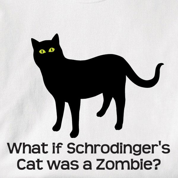 What If Schrodinger's Cat Was A Zombie? Shirt at What on Earth ...