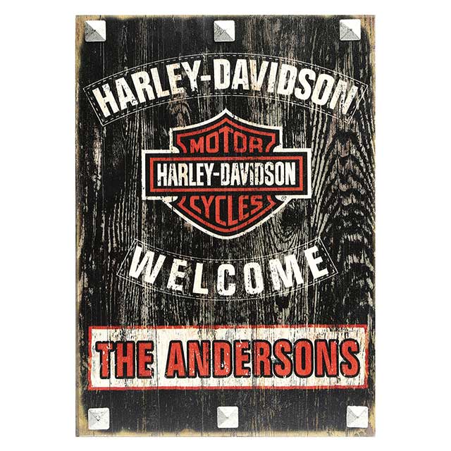 harley davidson® personalized sign at what on earth | cp7582