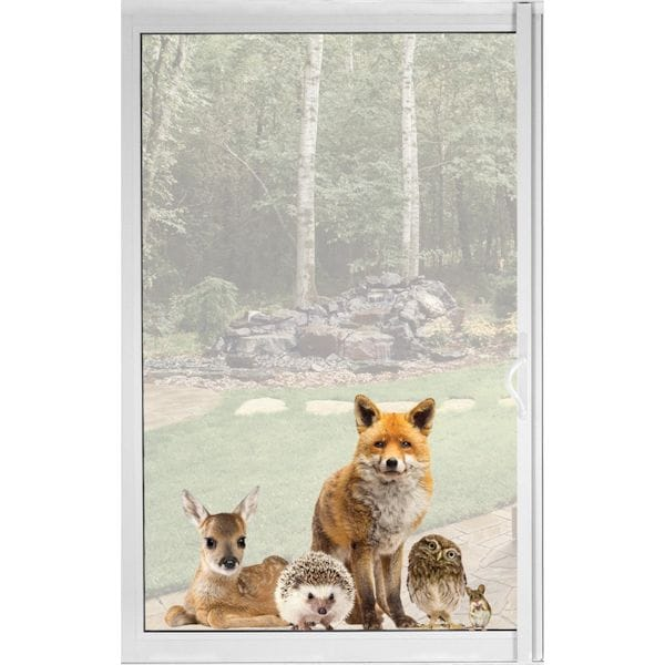Woodland Animals Window Decal Cling Fox Friends Vinyl Sticker
