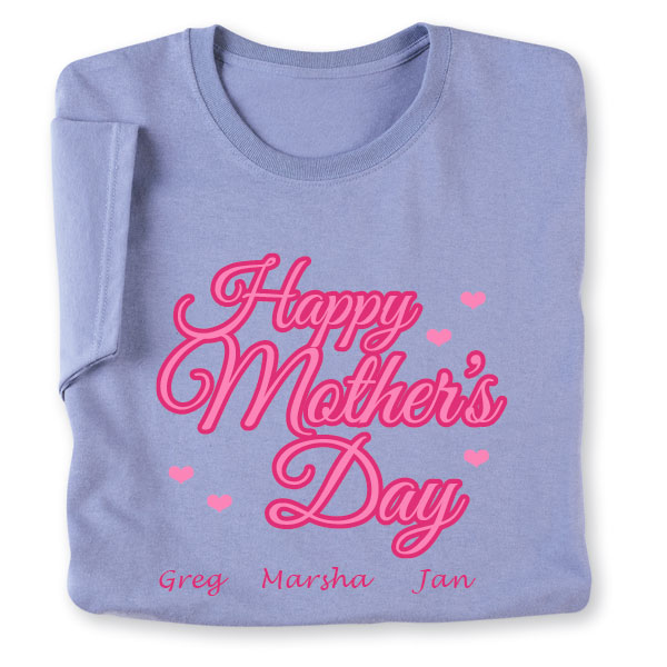 5354da20 Personalized Happy Mother's Day T-Shirt | What on Earth | CS4248