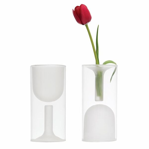 Double Wall Wine Glass Vase At What On Earth Cs6962