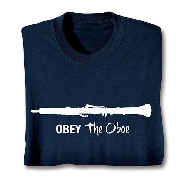 9087ce39 Obey the Oboe T-Shirt | What on Earth | CT2361