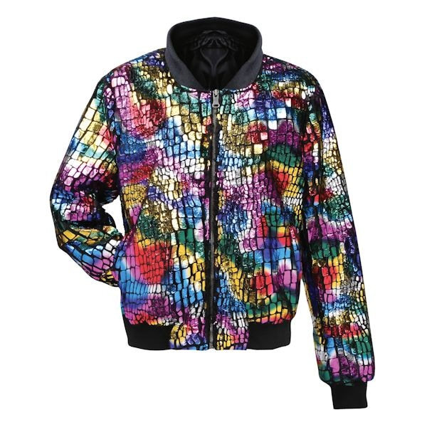 Multi-Colored Bomber Jacket at What on Earth | CV7456