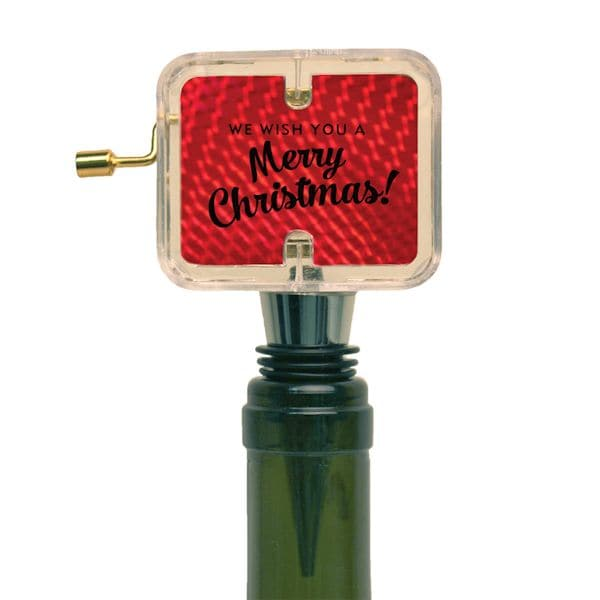 Christmas Wine Stoppers.Musical Wine Stoppers Merry Christmas