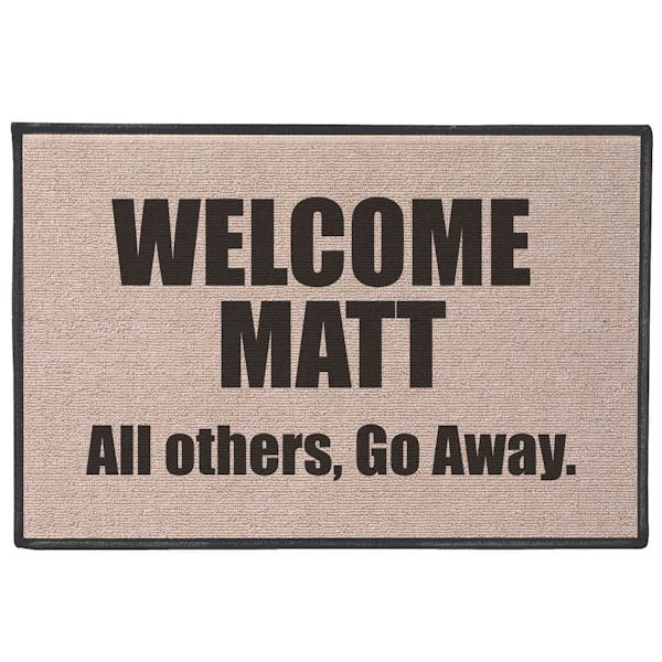 Welcome Matt All Others Go Away Doormat