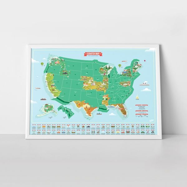 USA Landmarks Scratch Map | What on Earth | CX1082