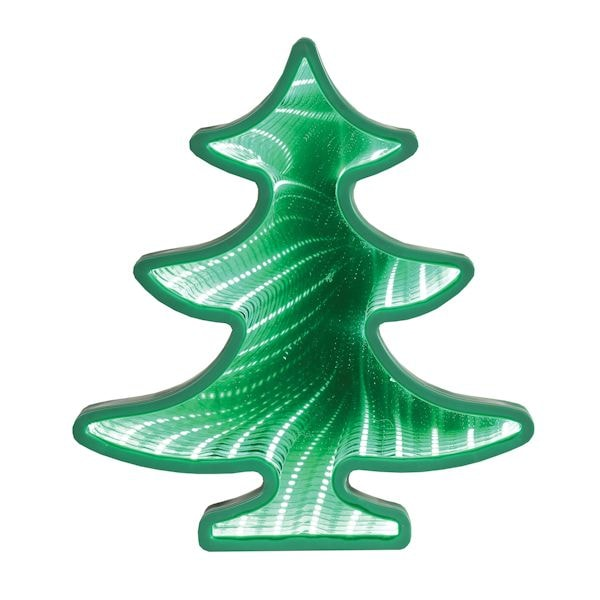 How Many Lights For Christmas Tree.Light Up Christmas Tree Mirror Tunnel