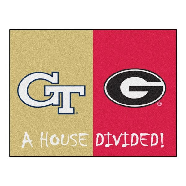 check out 64733 d2090 NCAA House Divided Mat   What on Earth   CX4582