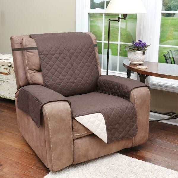 Marvelous Support Plus Reversible Quilted Microfiber Recliner Chair Cover With Pockets Protects Furniture From Pet Hair And Mess Spiritservingveterans Wood Chair Design Ideas Spiritservingveteransorg