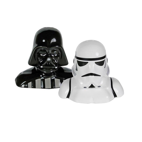 Darth vader stormtrooper salt and pepper shakers at what on earth vq3882 - Darth vader and stormtrooper salt and pepper shakers ...