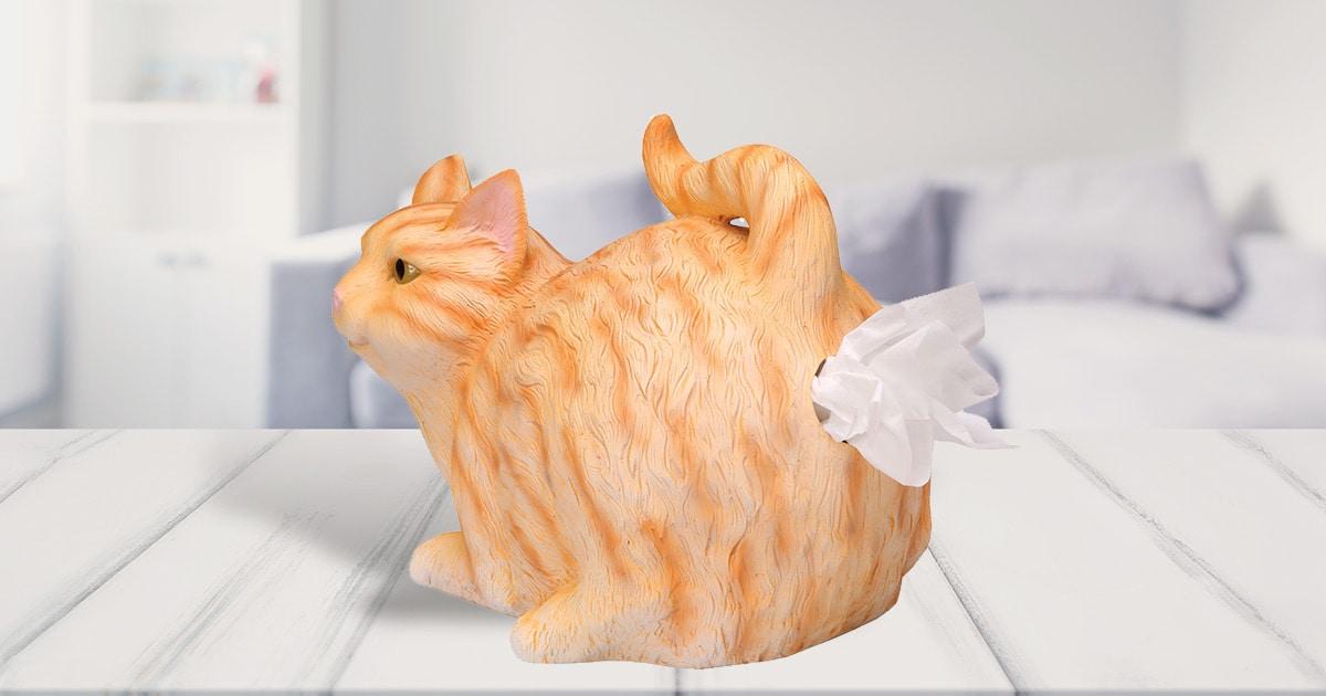 Cat Butt Tissue Dispenser Orange Tabby 33 Reviews 4