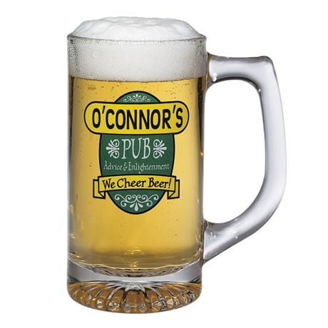 """Personalized """"Your Name"""" We Cheer Beer Mugs"""