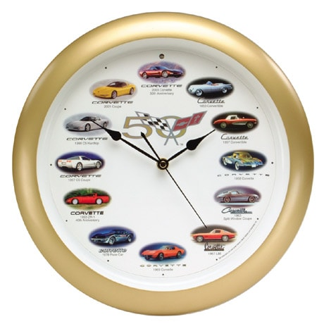 50th Anniversary Corvette(R) Clock