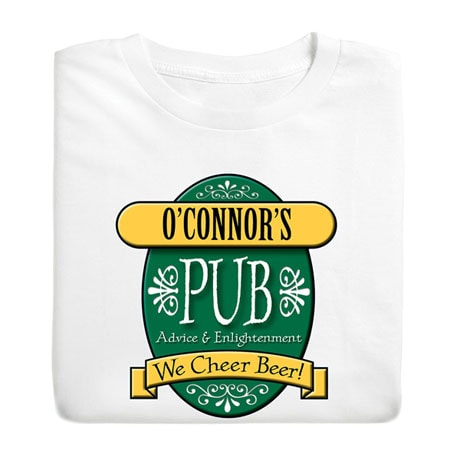 """Personalized """"Your Name"""" We Cheer Beer Shirt"""
