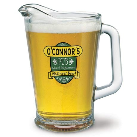"""Personalized """"Your Name"""" We Cheer Beer Pitcher"""