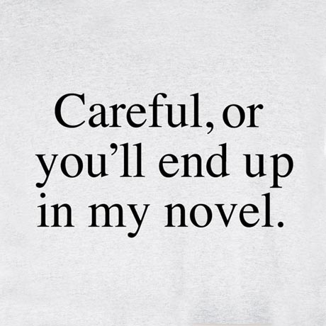 Careful, Or You'll End Up In My Novel Shirt