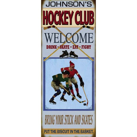 Personalized Hockey Welcome Sign
