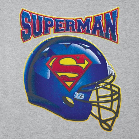 SUPERMAN FOOTBALL T-SHIRT