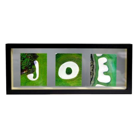 Small Personalized Sand Trap Framed Photo