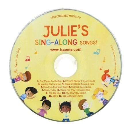 Personalized Name Book And Cd
