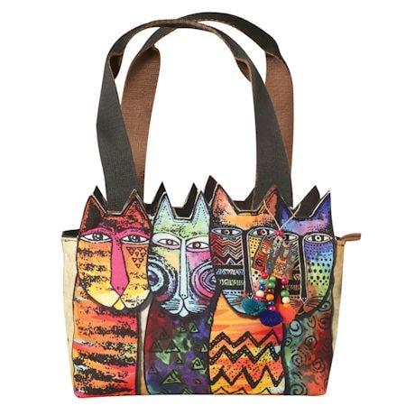 Laurel Burch Cutout Cats Handbag
