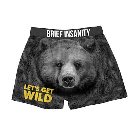 Comical Boxers - Let's Get Wild - Bear