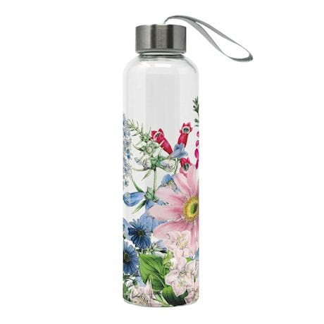 Floral Glass Water Bottles