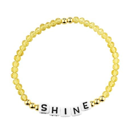 Positive Message Crystal Bracelet
