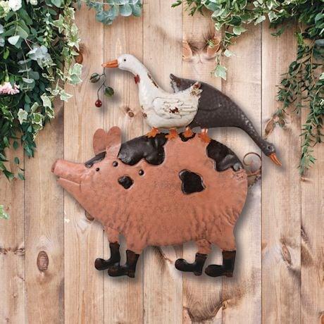 Geese And Pig Garden Wall Decor