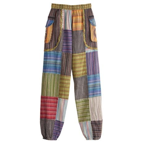 Peace And Ohm Patchwork Pants