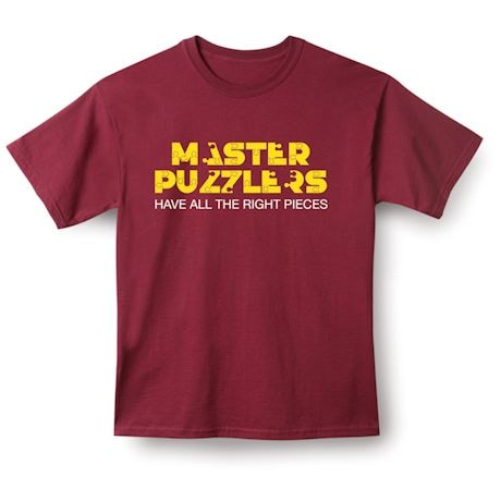 Master Puzzlers Have all the right pieces