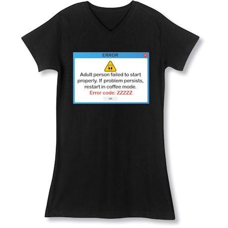 Computer Error Night Shirt