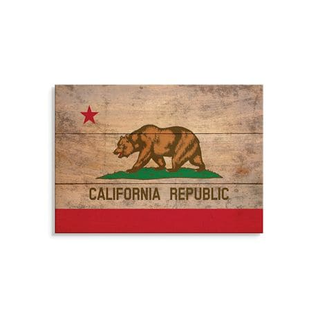 Wood State Flag Signs