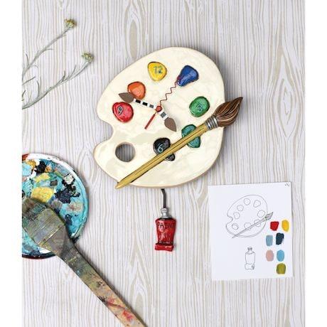 Artist Palette Clock