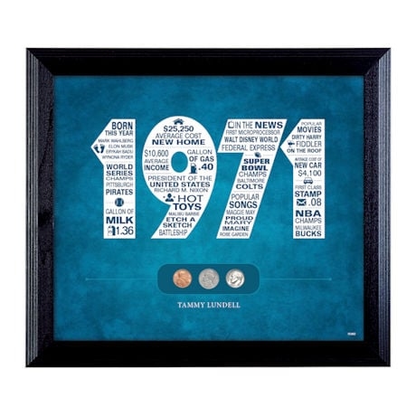 Year to Remember Personalized Coin Wall Frame