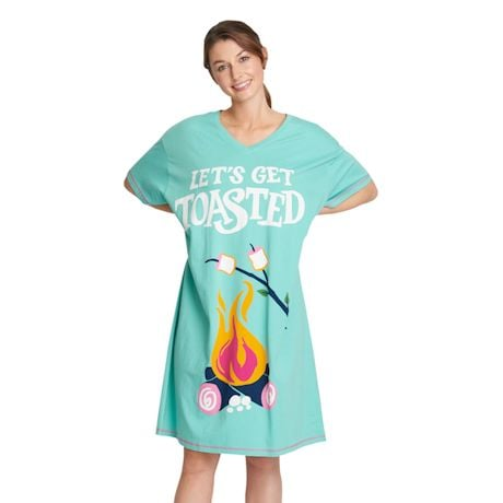 Humorous Sleepshirts - Let's Get Toasted