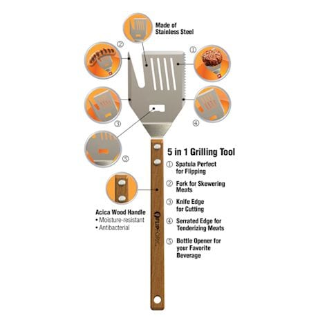 5-In-1 Flip Fork Bbq Tool