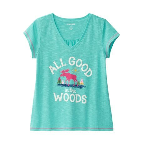 Women's All Good In The Woods Glamping Pj T-Shirt