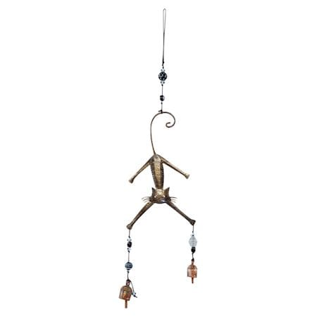 Hang In There Cat Bells Wind Chime