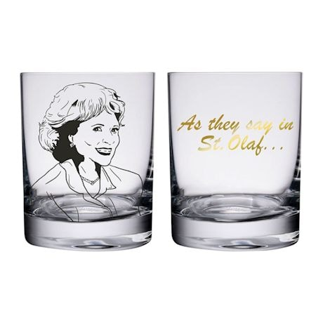 Golden Girls Lowball Glassware Set