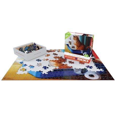 Kitty Throne 500-Piece Puzzle