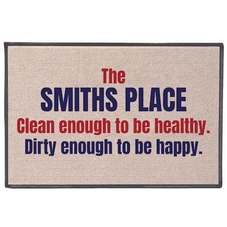 Personalized Healthy / Happy Doormat