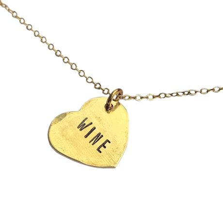 Chips & Salsa Hand-Stamped Necklace