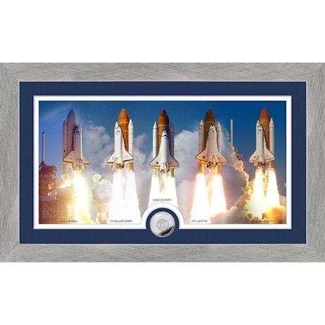 Commemorative Space Shuttle Coin Framed Artwork
