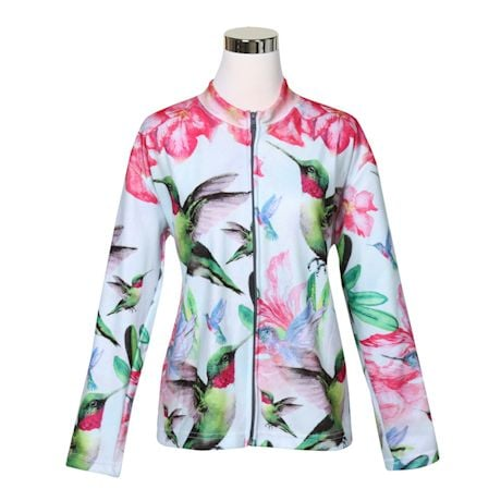 Hummingbird Zip Front Sweatshirt